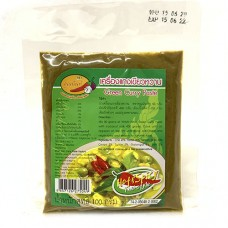 Khun Nan Green Curry Paste 100g เครื่องแกงเขียวหวาน ตราคุณนันท์ 100 กรัม