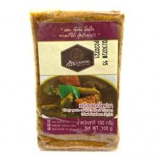 Sam Phao Tong Curry Paste of fish's hard tissues (Tai Pla) 100g เครื่องแกงไตปลา 100g ตราสำเภาทอง