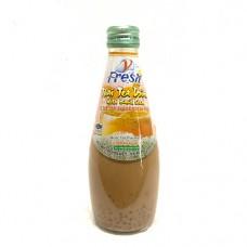 Vfresh Thai Tea with Basil Seed Drink 290ml ชาไทยผสมแมงลัก ตราวีเฟรช