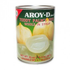 Aroy-D Whole Toddy Palm in Syrup ลูกตาลสดในน้ำเชื่อมชนิดไม่หั่น ตราอร่อยดี