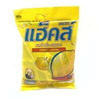 Hacks Honey Lemon 94.5g ลูกอมแฮคส์ เม็ดสีเหลือง