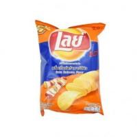 Lay Chips BBQ 75g มันฝรั่งอบกรอบ ตราเลย์ รสบาร์บีคิว 75 กรัม